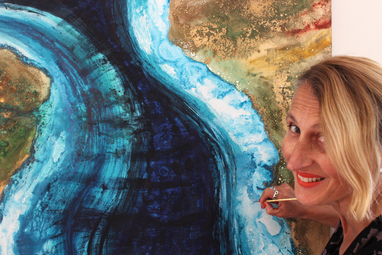 Beatrice painting Continental Drift Telluric 2015