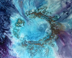 Horseshoe Atoll 120x150cm